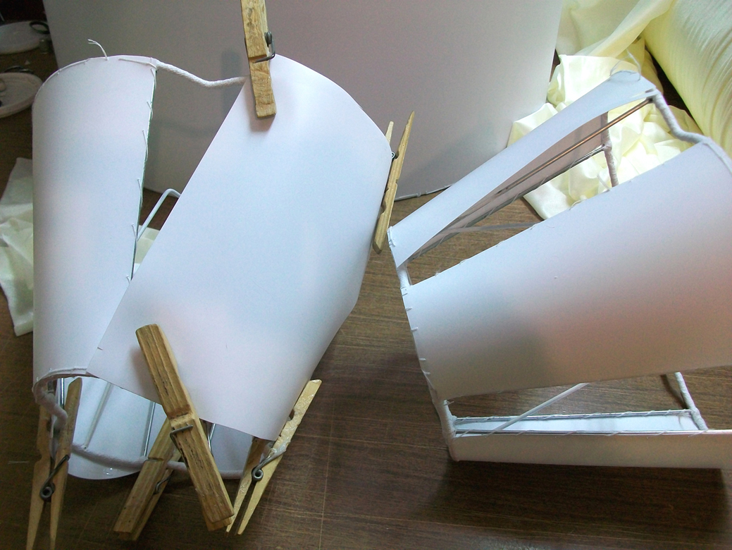 Lavorazione artigianale paralumi in stoffa-CALP-